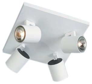 Massive 53094/31/10 Hiro 4 Plate Spotlight - White