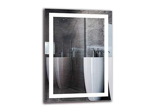 Espejo LED Premium - Dimensiones del Espejo 50x70 cm - Espejo de baño con iluminación LED - Espejo...