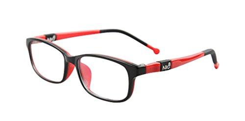 De Ding Jungen Mädchen Optische Kurzsichtigkeit Brille Rahmen Schwarz Rot