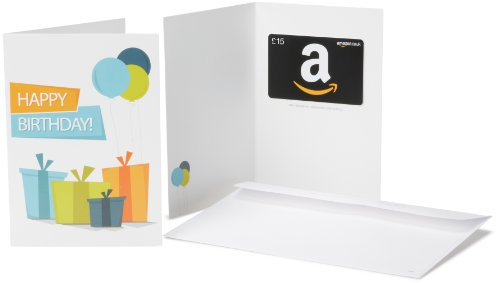 Amazon.co.uk Gift Card - In a Greeting Card - £15 (Birthday Presents) Test
