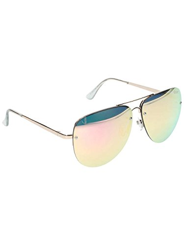 Quay Eyewear Unisex Sonnenbrille MUSE, Gr. One size, Gold (GOLD/PNK MIRROR)