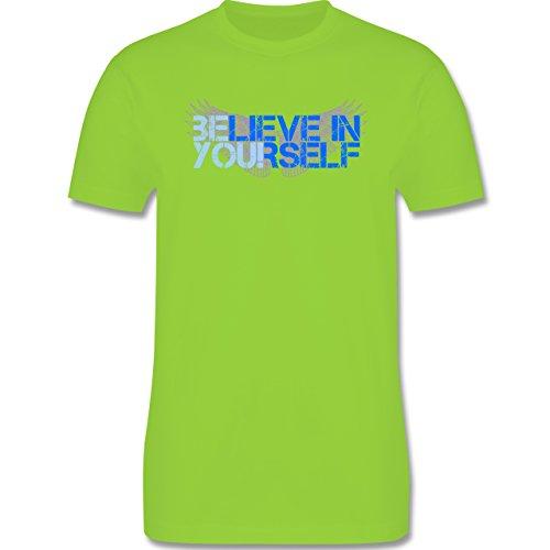 Statement Shirts - BElieve in YOUrself - Herren Premium T-Shirt Hellgrün