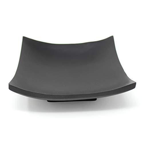 Trendy Wood & Light Quadrat schwarz Holzschale Dekoschale Holz Schale Deko Weihnachten, (schwarz)