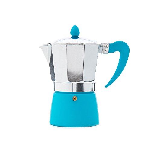 San Ignacio Soft-Touch Splash - Cafetera para 6 servicios en color azul.