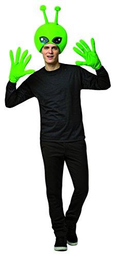 Alien Kit Adults Fancy Dress Halloween UFO Scifi Mens Womens Costume (Sci Fi Fancy Dress Kostüm)