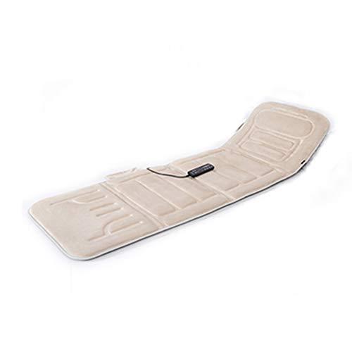 Massage Matratze Massage Pad Heizung, Kurzer Plüsch + Memory Foam 10 Vibration Motor Massage Matratze, Körpermassagekissen zur Entlastung des Nackenrückens