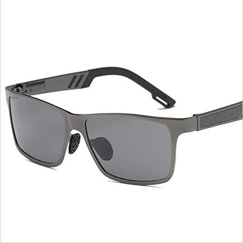 SUNHAO Sonnenbrille Herren Fahren polarisierte Sportbrillen Angeln Golf Brille Schutz Fashion Style Metallrahmen Ultra Light Aviator Spiegel Retro Aluminium Magnesium Spiegel