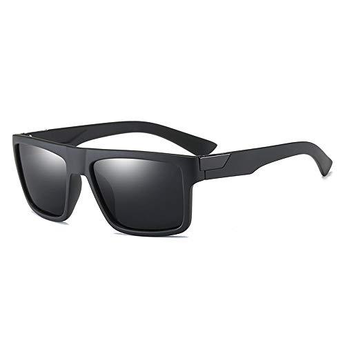 Herren Sonnenbrillen Polarisierte Sonnenbrille Teardrop Herren Sonnenbrille klassisches Design UV-Schnitt Wandern Bergsteigen Angeln LTJHJD (Color : Schwarz, Size : Kostenlos)