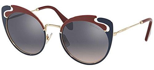 Miu Miu Sonnenbrillen Noir Evolution SMU 57T Red Blue/Violet Silver Shaded Damenbrillen