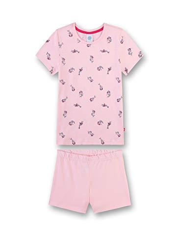 Sanetta Mädchen Schlafanzug kurz Bekleidungsset, Rosa (Pink Rose 38080), 92 (Herstellergröße: 092)