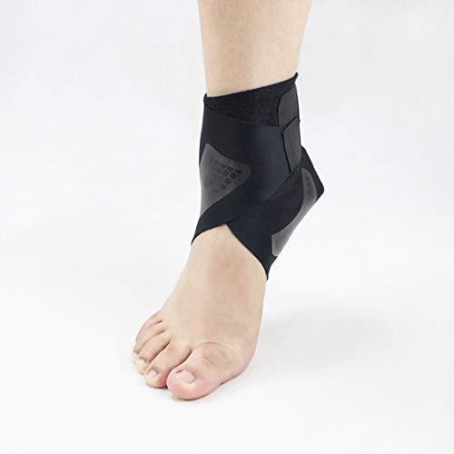 Knöchelstütze Fußwickel Knöchelbandage Knöchelschutz Verstellbarer Fußriemen Abgerollte verstauchte Fußschutzstabilisierungshülse für Laufen - Schwarz -