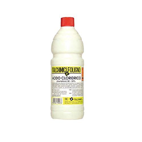 Acido cloridrico muriatico 30-33% detergente disincrostante