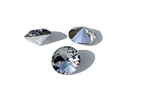 eimass-r-unfoiled-chatons-vetro-con-cristalli-pendenti-motivo-a-pois-retro-colore-nero-con-cristalli
