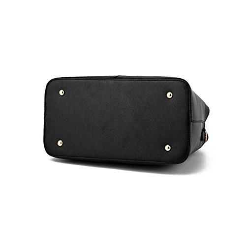 Toopot PU-Leder Frauen Schultertaschen Top-Handle Handtasche Tote Geldbörse Tasche Mode Umhängetasche KÖNIGS BLAU