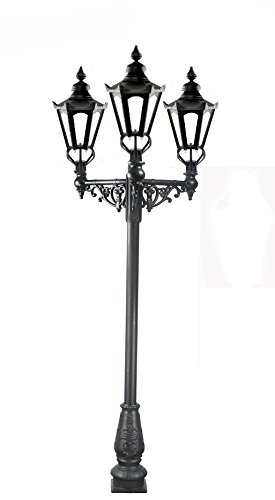 Triple Headed Hexagonal Cast Iron Lamp Post 2.2m - 10 Year Guarantee / Featured on BBC