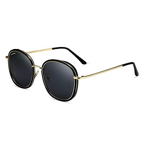 JMTLLTYYJ Polarisierte Sonnenbrille Frau, Retro Große Rahmen-Sonnenbrille, Welche Die Antreibende Sonnenbrille Für Die Reise, Bergsteigen, Etc. Fährt (Farbe : Gray)