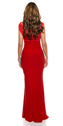 Red-Carpet-Look!Gala-kleid mit Strass rot