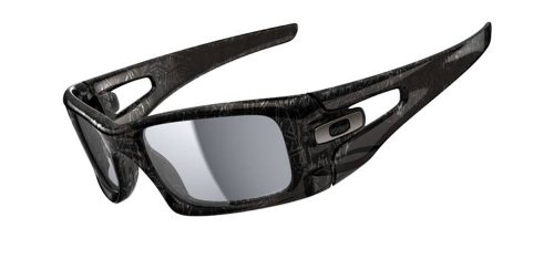 Oakley Herren Sonnenbrille Crankcase, grey smoke dark grey history text/grey polarized, OO9165-06