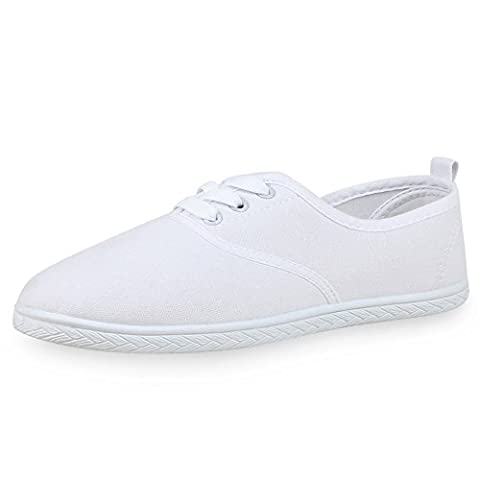 napoli-fashion , Sneakers Basses femme - blanc - Weiß,