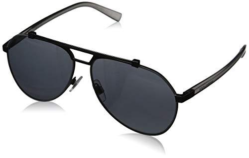 Dolce & Gabbana Herren 0DG2189 01/6G 61 Sonnenbrille, Schwarz (Matte Gunmetal/Black/Lightgreymirrorblack),