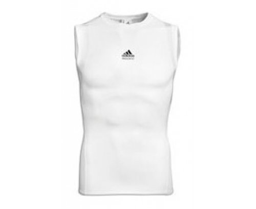 Die Adidas Tech Fit Sleeveless Tee X-small Weiß - weiß (Sleeveless Tee Adidas)