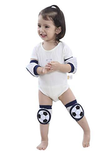 YJZQ Knieschoner Kinder Krabbeln Baumwolle Fussball Baby Knieschützer Sommer Kleinkind Knie Kriechende Schutz Anti-Rutsch für Junge Mädchen 2-5 Jahre zum Handball Fahrrad Volleyball