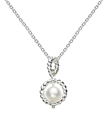 Kit Heath Womens Sterling Silver and Nestled Freshwater Pearl Necklace