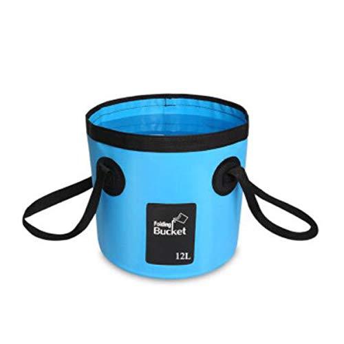 Yougou01 Klappbarer Eimer, Zusammenklappbares, tragbares Außenreiseauto-Multifunktionswasch-Eimer, Kapazität 10L-20L, Blau, Rose, Schwarz Langlebig (Color : Blue, Size : 25 * 24cm) -