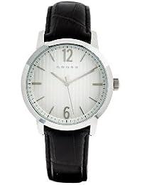 Cross  CR9013-02 - Reloj de cuarzo para hombre, con correa de cuero, color negro