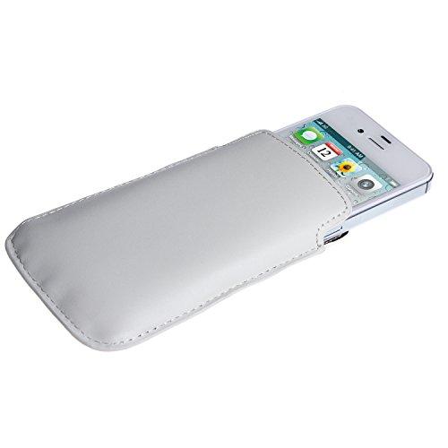 wortek Tasche Apple iPhone 3G / 3GS / 4 / 4S Etui Schwarz Glossy Weiß Matt