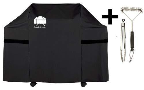 Housse de protection pour Weber Genesis E et S grills - Texas Grill Covers 7553 - incluant brosse et pince à barbecue