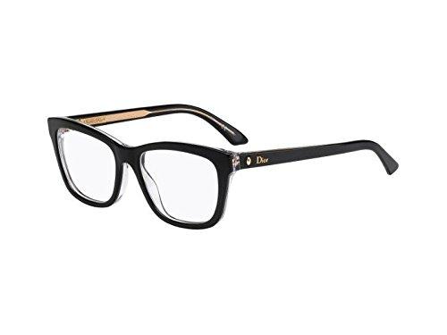5017441682a Dior Montures de lunettes Pour Femme MONTAIGNE19 - G99  Black   Crystal