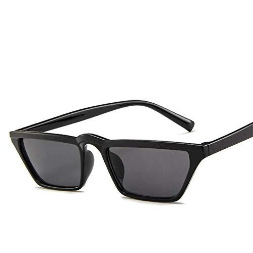 QBMWFC Weinlese-kleine Rahmen-Sonnenbrille-Frauen- / Mann-Spielraum, der Luxussonnenbrille für Frauen-klassisches Retro im Freien, Sand BlackSand Schwarzes fährt