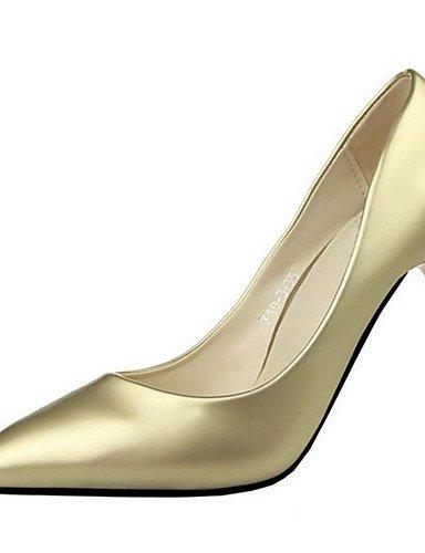 WSS 2016 Chaussures Femme-Bureau & Travail-Vert / Rose / Violet / Rouge / Blanc / Argent / Or / Bordeaux-Talon Aiguille-Talons-Talons-Similicuir silver-us4-4.5 / eu34 / uk2-2.5 / cn33