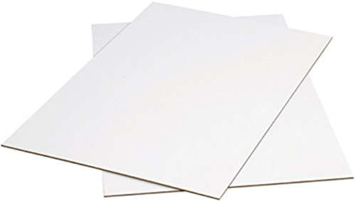 "bauxko Wellpappe Pads Weiß, (067) 6"" X 9"" , 12-Pack, 1"