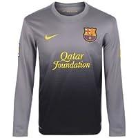 Nike Barcelona F.C. - Camiseta de portero para niño, 2012-13,color negro, 13-14 años