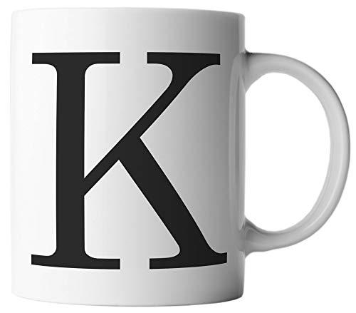 ghostee Tasse - Buchstabe K - Alphabet als Kaffeetasse ABC Buchstaben