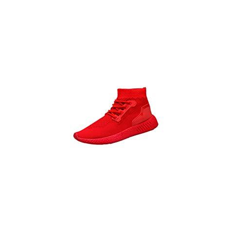 。◕‿◕。 Meilleure Vente! LuckyGirls Chaussures Homme 2018 Nouveau Style Mode Hommes Haute Aide Doux Sole Chaussures De Course Gym Chaussures Chaussettes Chaussures 39-44