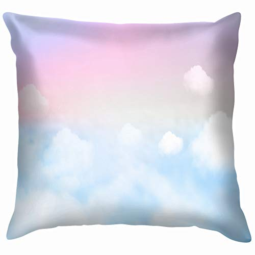 ky Pastel Nature Funny Square Throw Pillow Cases Cushion Cover for Bedroom Living Room Decorative 18X18 Inch ()