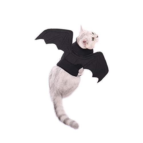 Kostüm Rahmen Flügel - OHANA Katzen Hunde Halloween Kostüme, Kostume fur Hund Cosplay Prop Partei Kleidung Outfit Flügel, schwarz Vampir Fledermaus Flügel Kostüm für besondere Anlässe Kostüm für Katzen Hunde