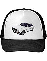 funny-toyota-corolla-dx-e70-2-door-hat-cap-white