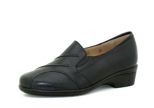 Piesanto Modèle 3616 - Confortable chaussures en cuir pour femmes Noir
