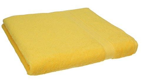 Toalla amarilla de baño para el lavavo. 50x100cm 100% algodón