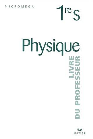 chimie 1re s livre du professeur programme 2001