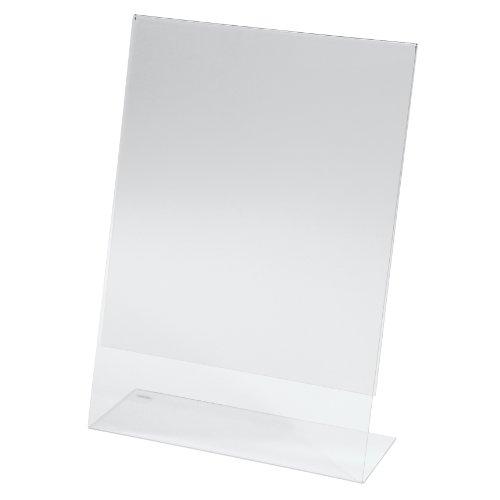 Sigel TA210 Porta-avvisi da tavolo / Porta-brochure da banco, con base a L, acrilico, per A4