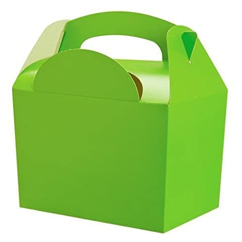 Lime Green Party Boxes, 10 supplied