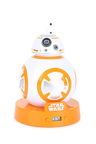 Joy toy- bb-8 sveglia con proiettore, multicolore, 12x12x17,5 cm, 21664