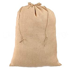 31V3IT1TSbL. SS300  - Sacos de Yute 6 de 100 x 60 cm, 50 kg de Carga, Sacos ecológicos de Fibra Natural, 100% Yute, Saco de Patatas Resistentes con protección contra heladas, para Carreras de Sacos…
