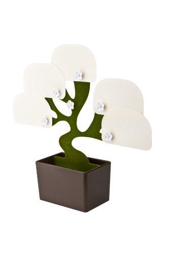 Portalápices con notas para el escritorio como árbol en la oficina, en casa o como regalo. marrón/verde, aprox. 15 x 7 x 21 cm. Con 100 hojas de notas.