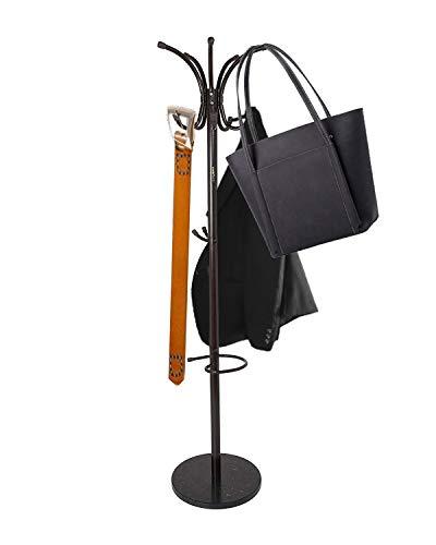 Keraiz Coat Schirmständer Kleidung Storage Rack Holder Marmorsockel Schwarz (Coat-rack Storage)